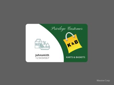 Privilege Customer Card Design
