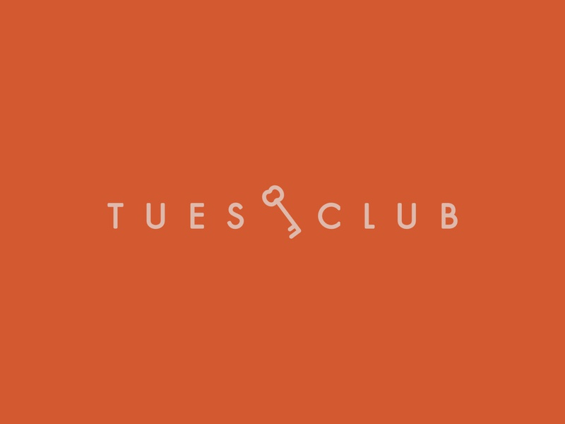 The Tuesday Club - Secondary Logo simple branding brand futura secondary logo brand design logo and branding cute feminine pink red digital art fashion retail etsy shop etsy tuesday club key logo illustration
