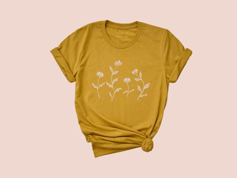 Wildflower –Gold Shirt