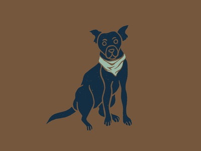 Grounds & Hounds Camping Companion explore wilderness cute coffee coffee packaging camping illustration grounds and hounds camp out camp camping cute illustration cute dog dog illustration puppy dog bandana dog with bandana camping dog camping companion