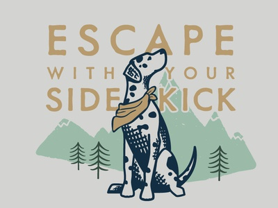 Escape With Your Sidekick | Grounds & Hounds cute dog illustration dog illustration grounds and hounds dalmatian