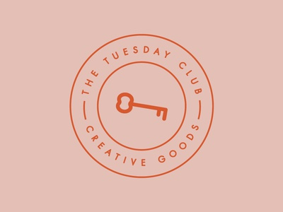 Logo Stamp | The Tuesday Club creative club typography key graphic design minimal merchandise design the tuesday club tuesday club logo stamp