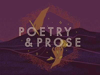 Poetry & Prose Illustration | Brewpoint Coffee sunset desert poetry flowers rose