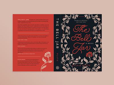 The Bell Jar (Spread) | Cover Design plant illustration weeds plants botanical flowers floral floral illustration cover design book cover book design sylvia plath the bell jar