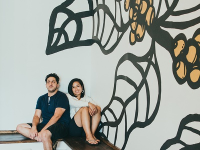 Mural Design (Light) | Brewpoint Coffee