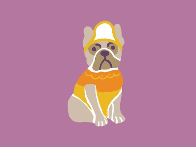 Candy Corn French Bull Dog | Grounds & Hounds Coffee Co.