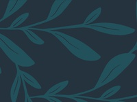 Botanical Pattern in Blues