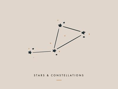Stars & Constellations branding design minimal clean iconography icon star big dipper space astronomy constellations stars branding design typography drawing digital digital illustration illustration