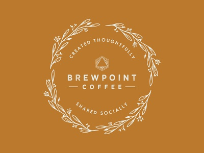 Brewpoint Coffee Stamp - Floral