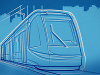 Kansas City Streetcar Illustration