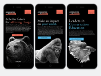 Association of Zoos & Aquariums Website build - Mobile