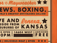 BBQ. BREWS. BOXING. promo
