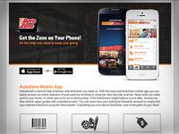 AutoZone App Landing Page