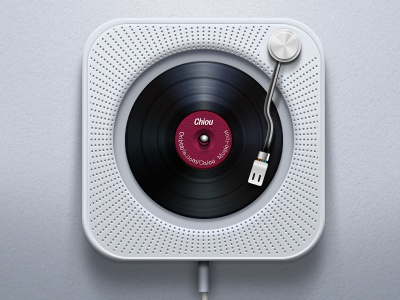 muji cdplayer by chiou dribbble. Black Bedroom Furniture Sets. Home Design Ideas