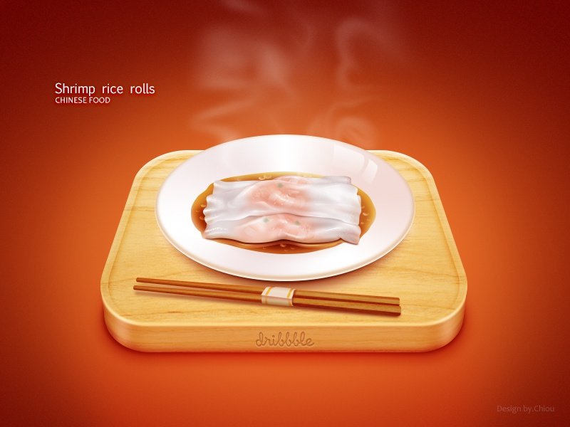 Shrimp rice rolls chiou china icon food chinese food