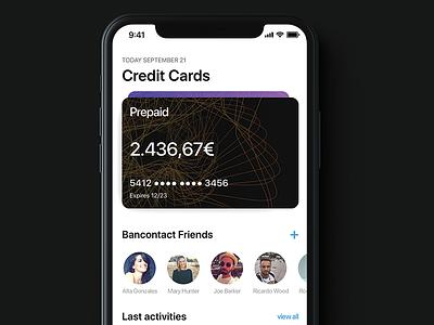 Banking App on iPhone X ios money minimalist design iphone x app banking