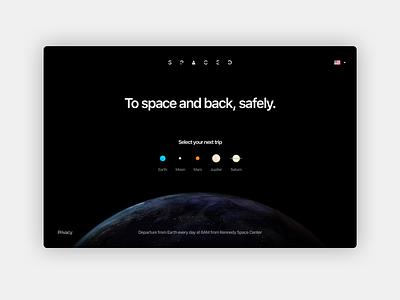 Homepage/Logo #SPACEDchallenge minimal ui travel spacedchallenge spaced space black earth moon mars landingpage logo