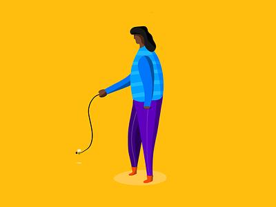 The Bee 🐝 draw trip charachter 2d illustration procreate illuatration