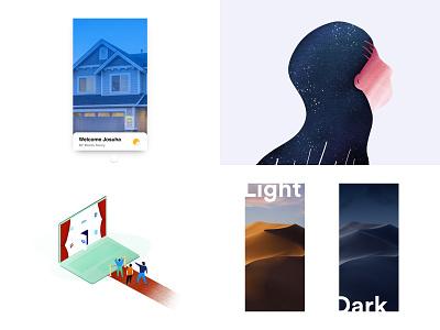 2018 gif animation iphone isometric ios wallpapers invisionstudio app ui charachters illuatration