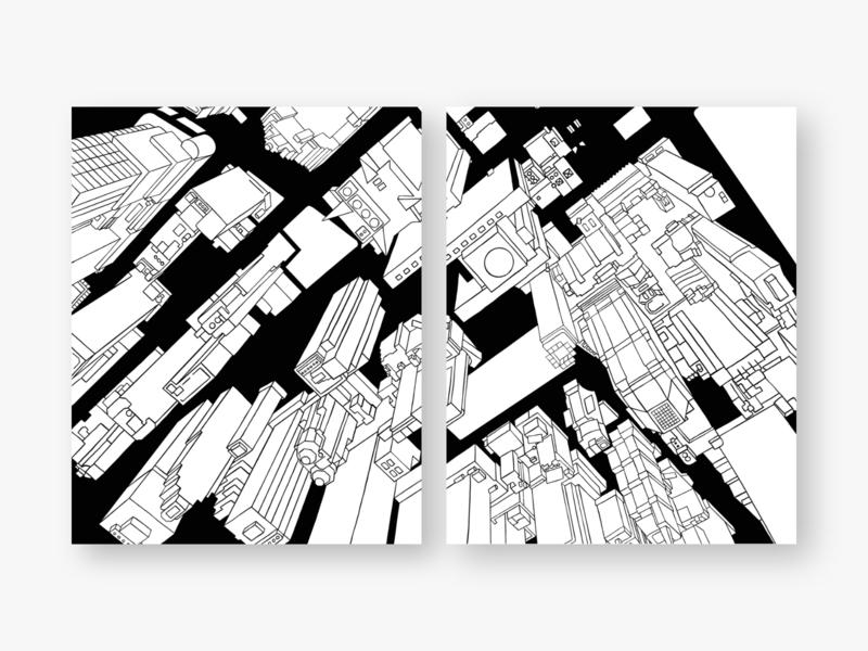 Inverted doodle design exploration digital art space new york line art illustration artwork artist art