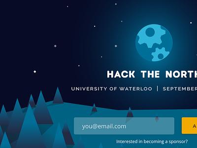 Updated Hack the North geometric stars night waterloo canada trees hackathon hack the north