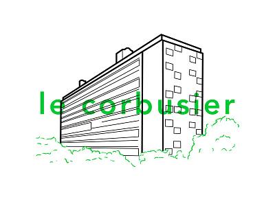 Le Corbusier Unité d'Habitation type illustration modern architecture unite dhabitation le corbusier