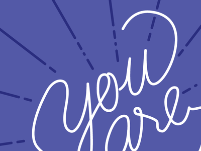 you are here - WIP you are here cursive handwriting illustration monoline lettering