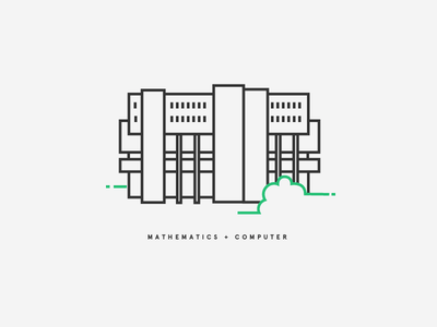 Big, beautiful, brutalist baby. building typography illustration drawing line icons architecture brutalism university of waterloo