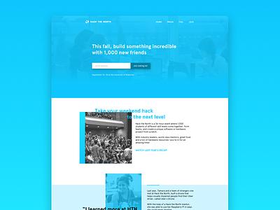 Hack the North 2016 website webpage hackathon gradient product design ui ux landing page splash page branding