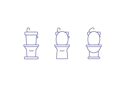 japanese toilets design lines iconography icons japan toilet