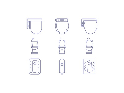 best + worst toilet experiences....go! asia design lines iconography icons japan toilet
