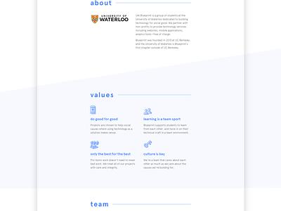 UW Blueprint ui ux web non-profits social good university of waterloo lines shapes blueprint