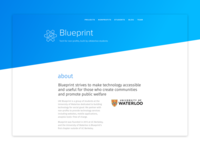 Blueprint webpage