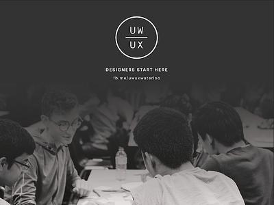 UW/UX minimal gradient image matte bw monochrome poster logo rebrand
