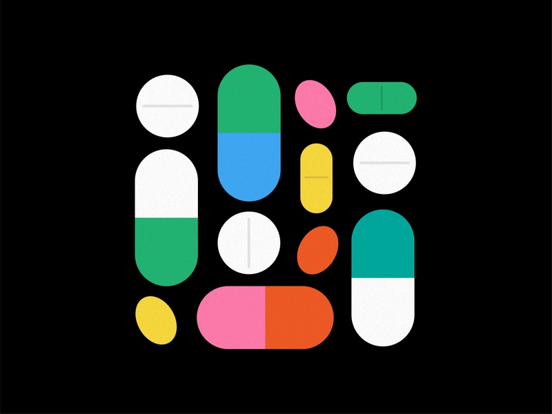 supplements pills supplements vector color bold simple abstract illustration