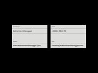 self branding - business card design