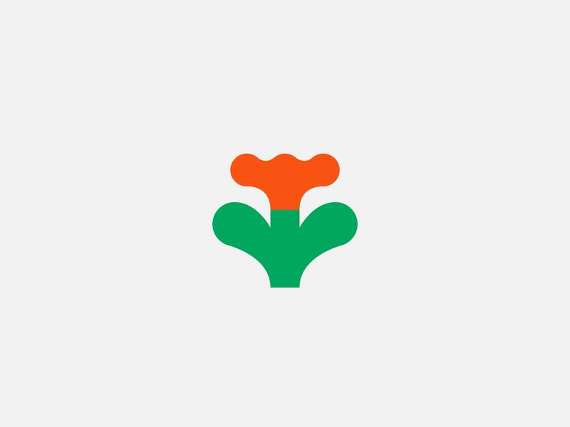 orange flower orange flower minimal vector color abstract illustration bold simple