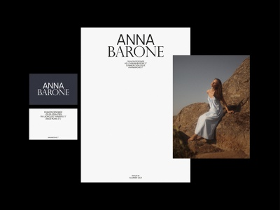 Identity Tryout - Anna Barone print design typography layout businesscards fashion italy phtotography design minimal simple identity branding