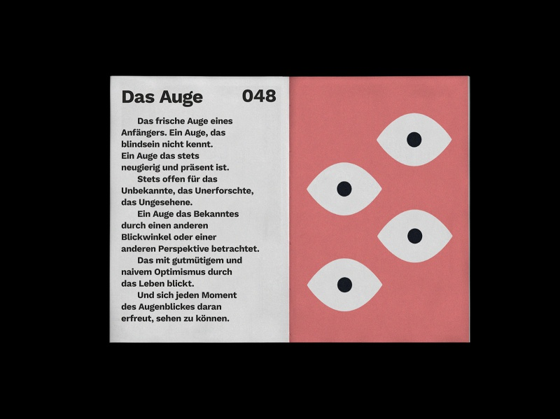 Das Auge typography beginners mind print design editorial design book