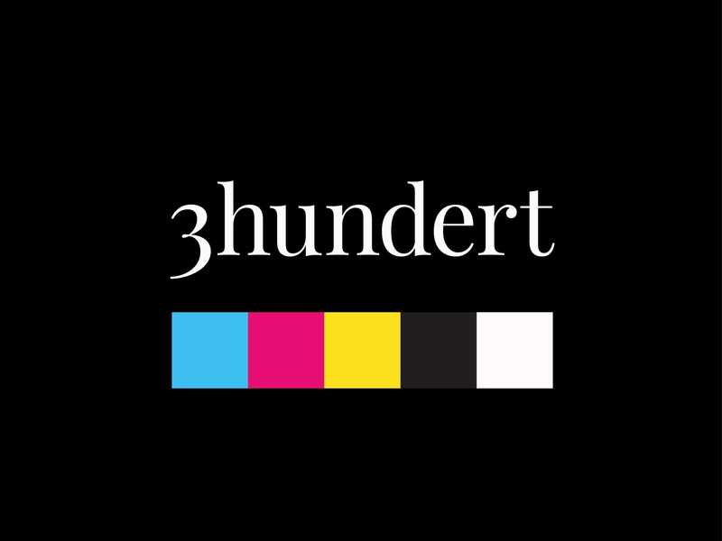 3hundert branding cmyk 3hundert typography colors corporate design branding
