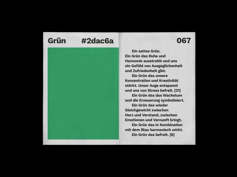 grün bold color beginners mind print design editorial design