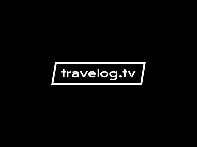 travelog bold black typography branding logo