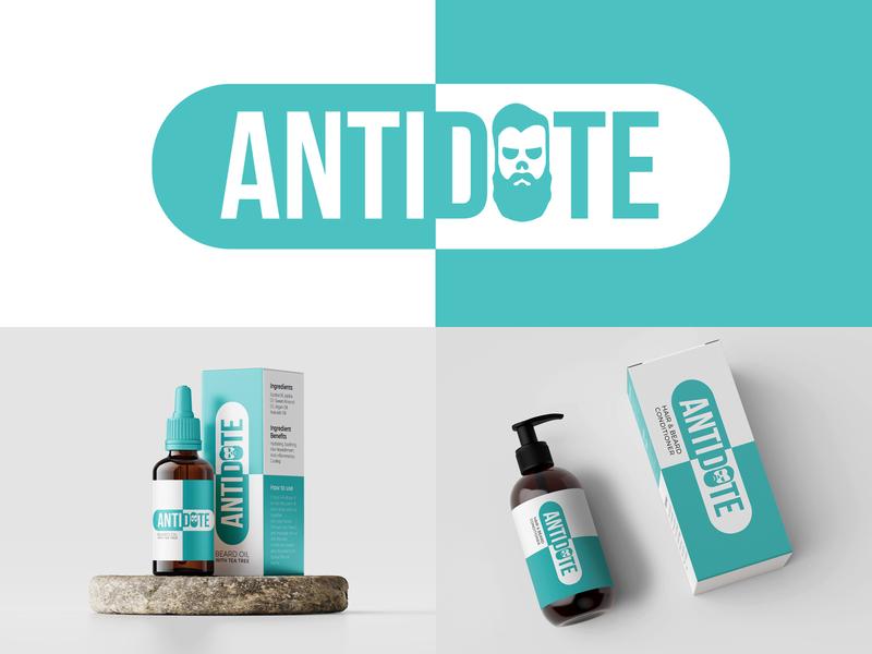 Antidote Hair Care hairdresser barber logo hairstyle skin fade bearded beard oil beard barber hair salon haircut hair male male hair grooming