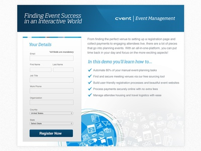 Demo Signup for Event Management