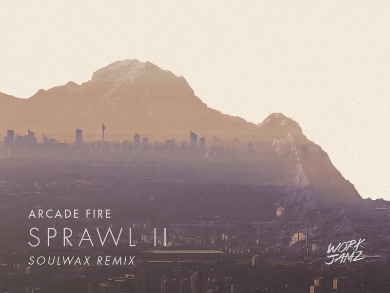 "Sprawl II ""Cover"" work jamz double exposure cover arcade fire music"