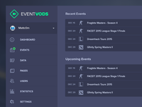 EventVODs Dashboard Overview