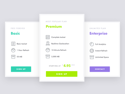 Stylish Pricing Table icons line icon futura marketing comparison table pricing