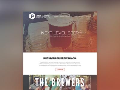 Pubstomper Website - Homepage web design brewing company brewing beer pubstomper