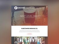 Pubstomper Website - Homepage