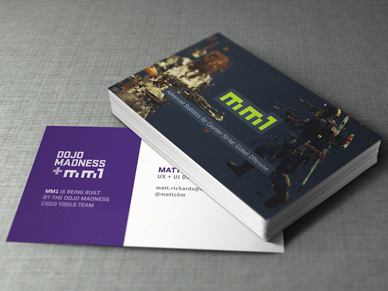 mm1 Business Cards dark colors mockup mm1 business card gaming counter-strike